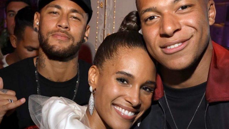 Neymar, Cindy Bruna dhe Kylian Mbappe (Foto: Instagram/k.mbappe)