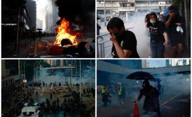 Protestuesi qëllohet me plumb në gjoks gjatë përleshjes me policinë në Hong Kong