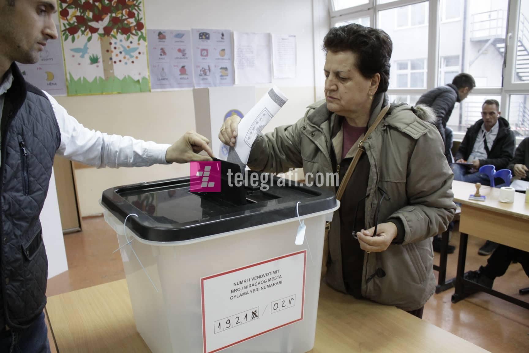 Përqindja e votuesve në shtatë komunat e mëdha deri në orën 11:00, prin Prishtina