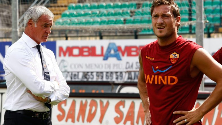 Claudio Ranieri dhe Francesco Totti (Foto: Paolo Bruno/Getty Images/Guliver)