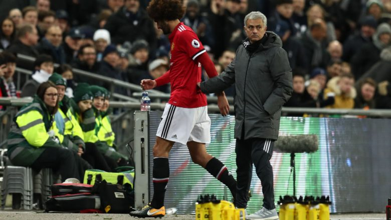 Marouane Fellaini dhe Jose Mourinho (Foto: Catherine Ivill/Getty Images/Guliver)