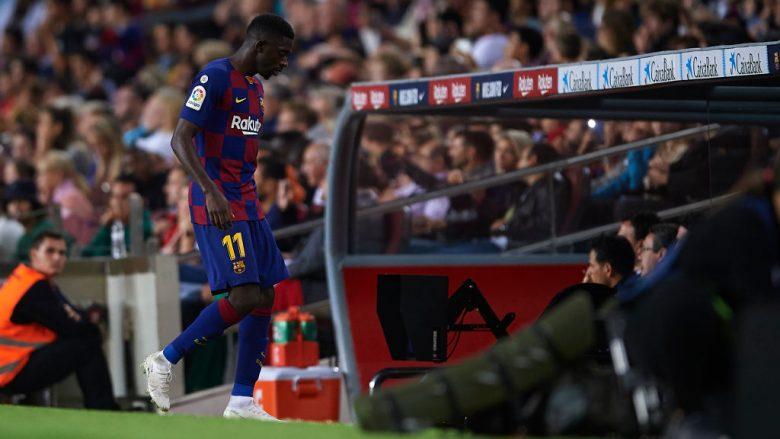 Përjashtimi i Ousmane Dembele me karton të kuq (Foto: Aitor Alcalde/Getty Images/Guliver)