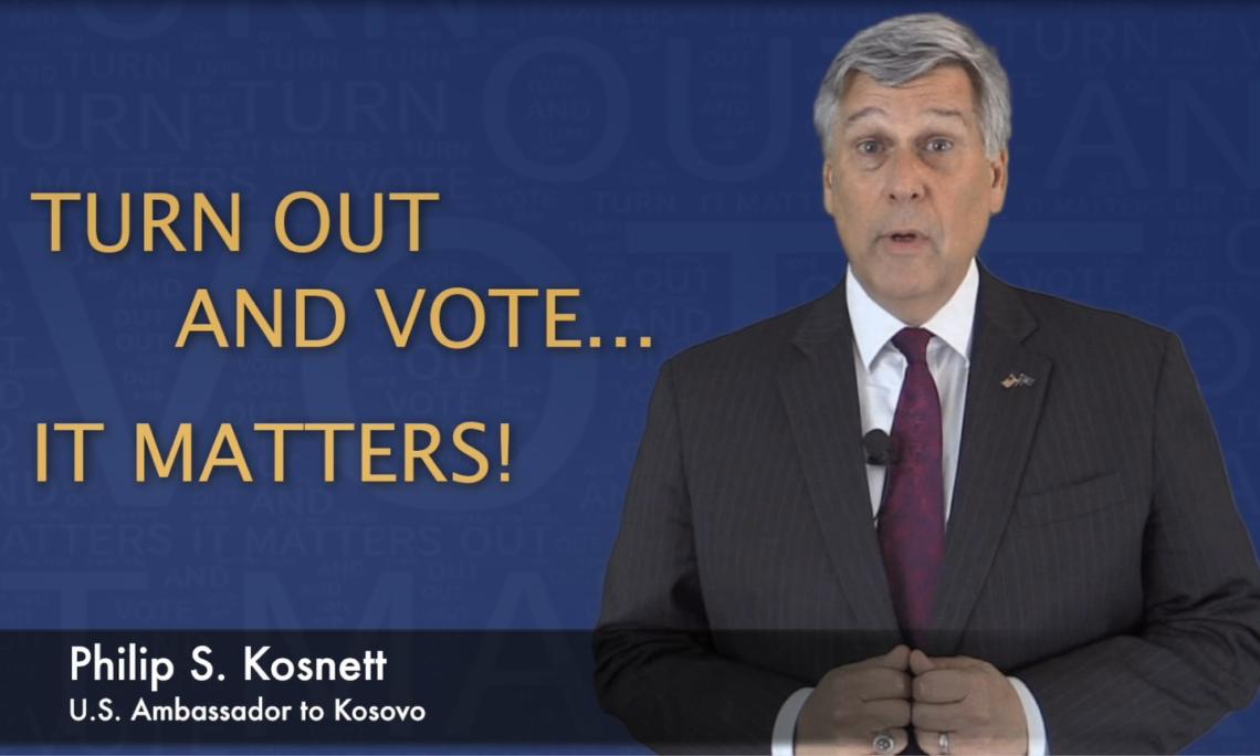 Kosnett: Dilni dhe votoni për vetën, për vendin tënd, për të ardhmen tuaj