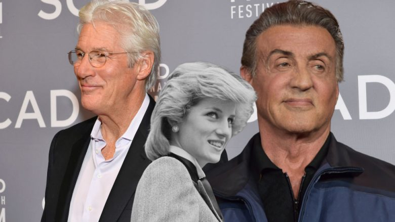 Richard Gere, princesha Diana, Sylvester Stallone (Fotomontazh: Getty Images/Guliver)