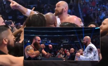 Tyson Fury u përfshi në një zënkë në WWE, sigurimi e pengon përleshjen e tij me Braun Strowman