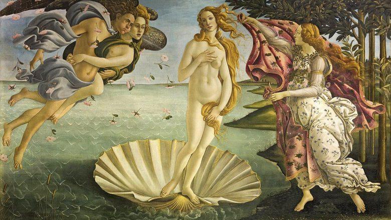 """""""Lindja e Venerës""""  nga Sandro Botticelli (1484-86)"""