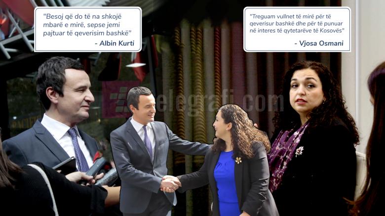 Kurti dhe Osmani japin detajet e bashkëqeverisjes