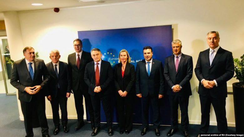 Mogherini takoi liderët e Ballkanit Perëndimor