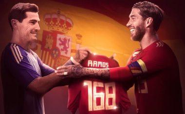 Ramos thyen rekordin e Casillasit, bëhet lojtari me më shumë paraqitje në histori të Spanjës
