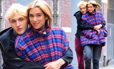 Dua Lipa ndjen ftohtë në New York, Anwar Hadid i huazoi pallton e tij ndërsa shkuan së bashku në ditëlindjen e Bellas
