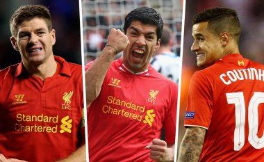Goal.com zgjedh formacionin e dekadës te Liverpooli, mungojnë Gerrard dhe Coutinho