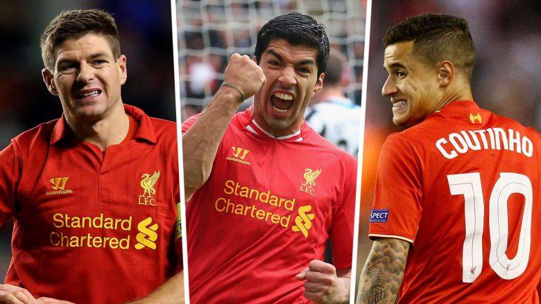 Gerrard, Suarez dhe Coutinho (Foto: Goal.com)