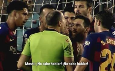 Messi për ta shpëtuar Dembelen nga kartoni i kuq: Nuk di të flasë, nuk di të flasë