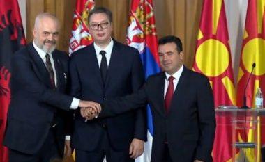 Rama-Vuçiq-Zaev shtrëngojnë duart: Nuk do ta presim Bashkimin Evropian, s'jemi prioritet i tyre