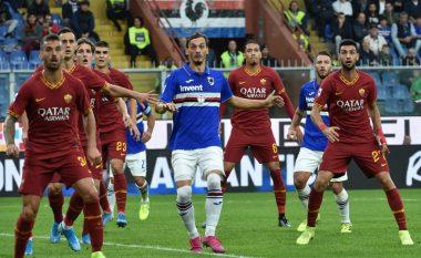 Roma ndalet nga Sampdoria në xhiron e tetë të Serie A-së