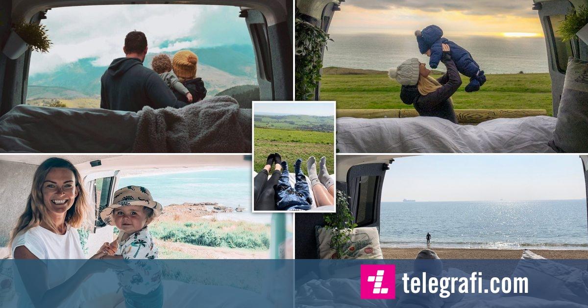 """Photo of Çifti britanik e shndërrojnë furgonin në """"shtëpi me rrota"""", e bëjnë këtë për të marrë me vete edhe djalin e vogël"""