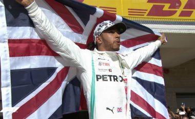 Hamilton fiton titullin e gjashtë botëror në Formula 1, një titull larg Schumacherit