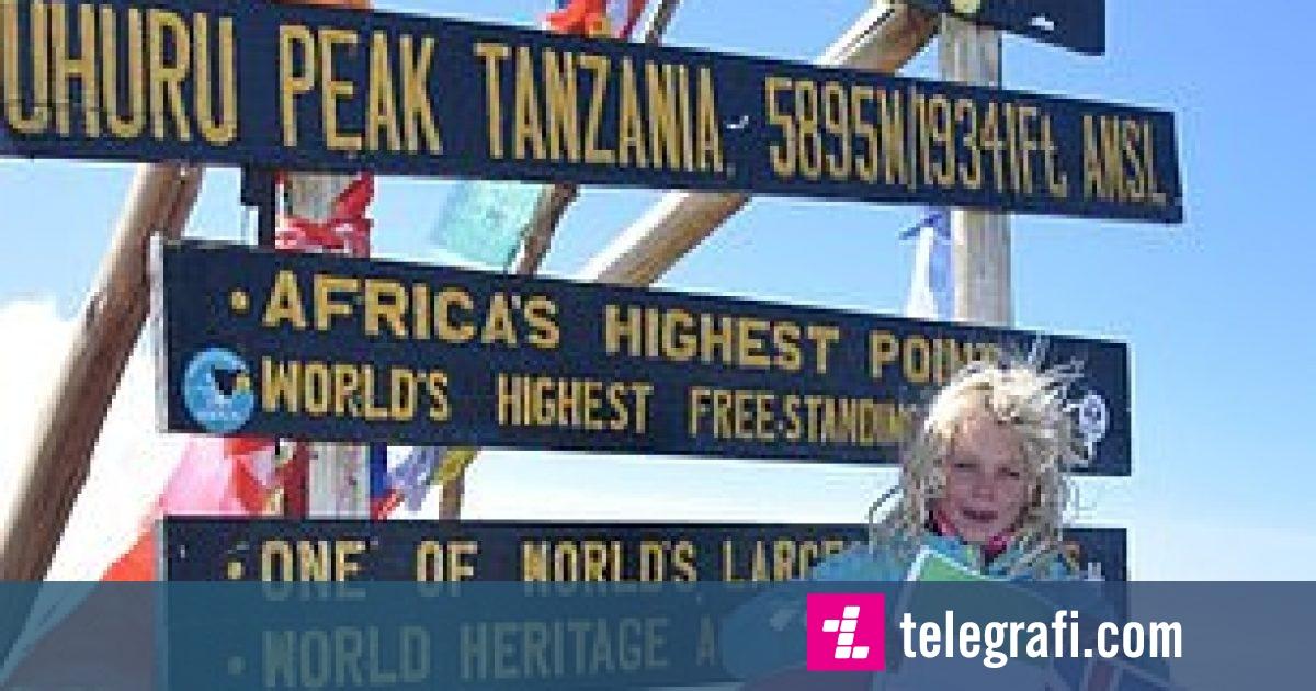 Photo of Britanikja gjashtëvjeçare bëhet vajza më e re që ngjitet në Kilimanxharo, drejt të njëjtës maje malore u nis edhe pas dy javësh