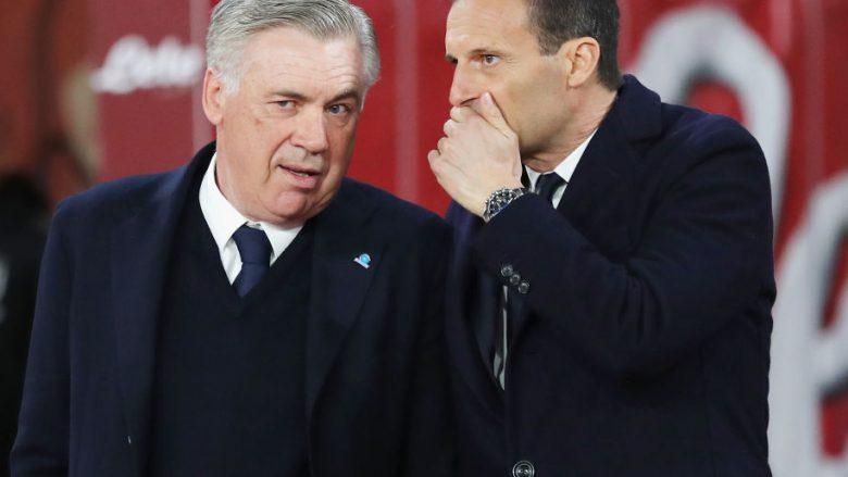 Carlo Ancelotti dhe Massimiliano Allegri (Foto: Francesco Pecoraro/Getty Images/Guliver)