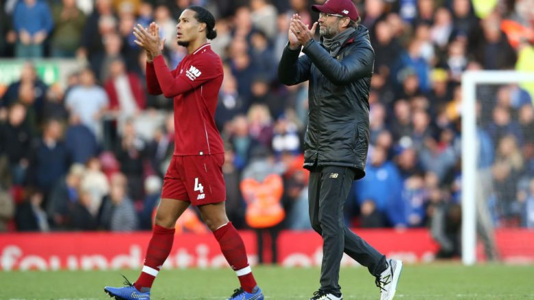 Virgil van Dijk dhe Jurgen Klopp.  (Photo by Jan Kruger/Getty Images)