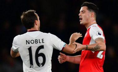Kapiteni i West Hamit, Noble flet fjalë të mëdha për Xhakën dhe e këshillon të largohet nga Arsenali