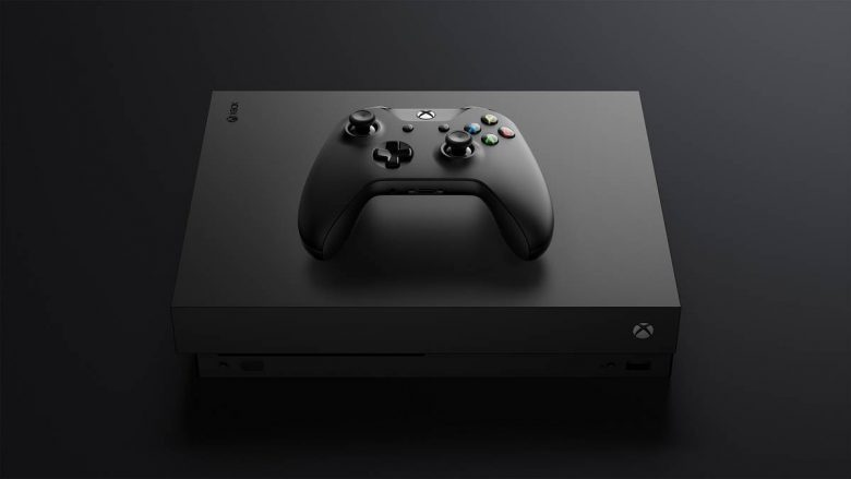 Xbox One X Console Controller Front Tilt Top