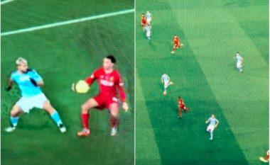 Dy momentet e dyshimta në pjesën e parë të derbit Liverpool – Manchester City