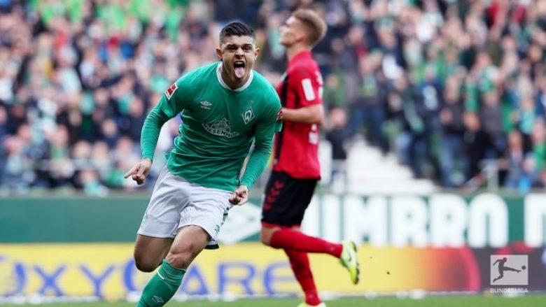 Rashica nuk po ndalet me gola te Werder Bremeni, tani i shënon Freiburgut