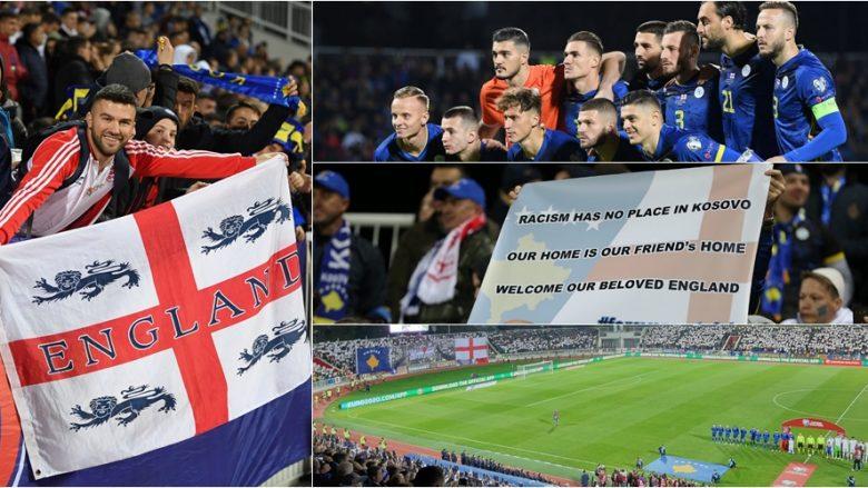 Prapaskenat e ndeshjes Kosovë – Angli: Sheikë të pranishëm, nervoza e Challandes me Zhegrovën, largimi i 'tifozëve', duartrokitjet për anglezët dhe Abraham e Maguire gëzojnë me fanella tifozët e Kosovës