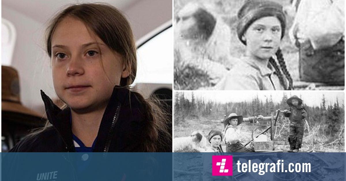 """Photo of """"Ajo është një udhëtare në kohë!"""": Një fotografi e një vajze që i ngjan Greta Thunberg, e bërë 121 vjet më parë, ndez komente të shumta në internet"""