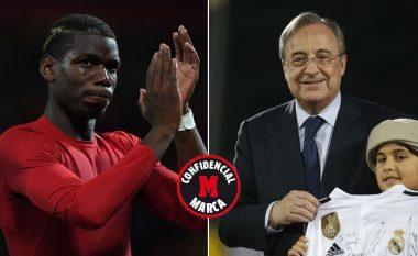 Presidenti i Real Madridit, Florentino Perez planifikon të ofrojë dy lojtarë dhe para për Pogban