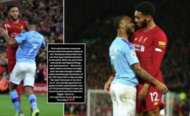 Sterling reagon pas suspendimit nga kombëtarja e Anglisë shkaku i zënkës me Joe Gomez