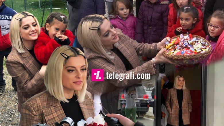 Bebe Rexha gjatë vizitës së saj në Shqipëri (Foto: Telegrafi)