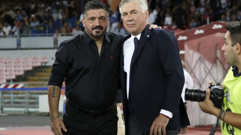 Gattuso dhe Ancelotti (Foto: Francesco Pecoraro/Getty Images/Guliver)