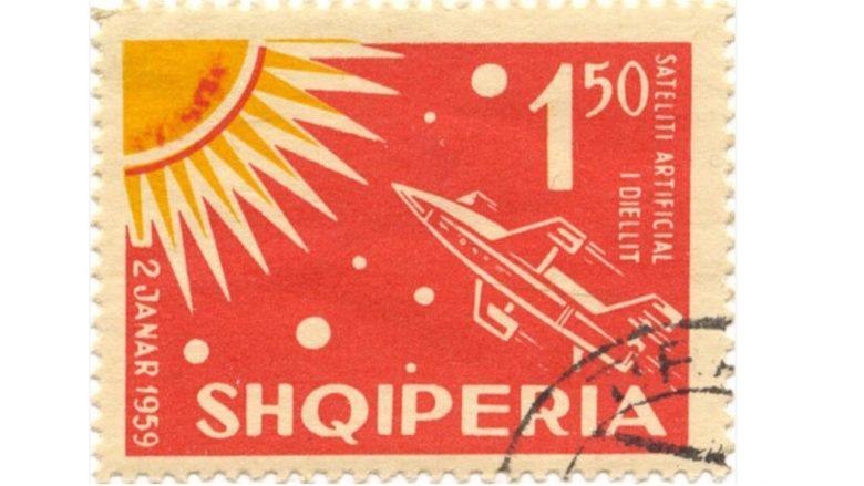 """Pulla postare që shënon lansimin e anijes kozmike sovjetike, """"Luna 3"""" më 1959"""