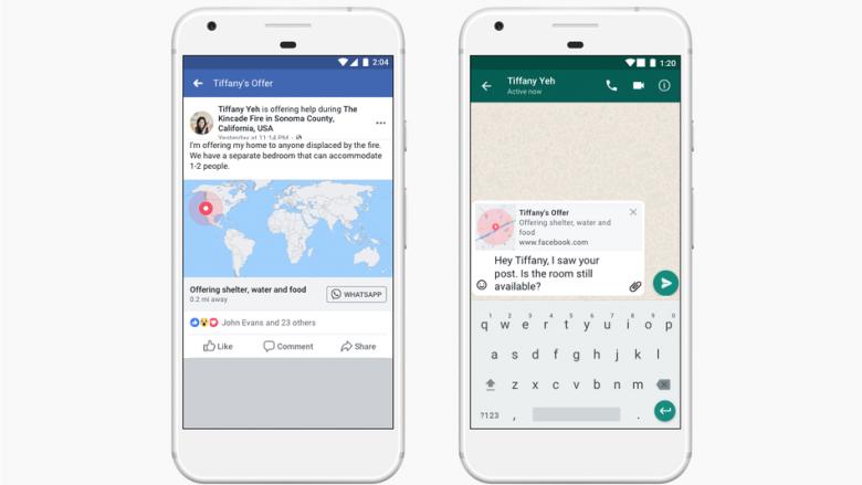 Opsioni i Facebookut për raportimin e fatkeqësive natyrore zgjerohet edhe në WhatsApp