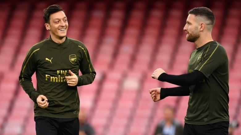 Mesut Ozil dhe Shkodran Mustafi (Foto: Stuart Franklin/Getty Images/Guliver)
