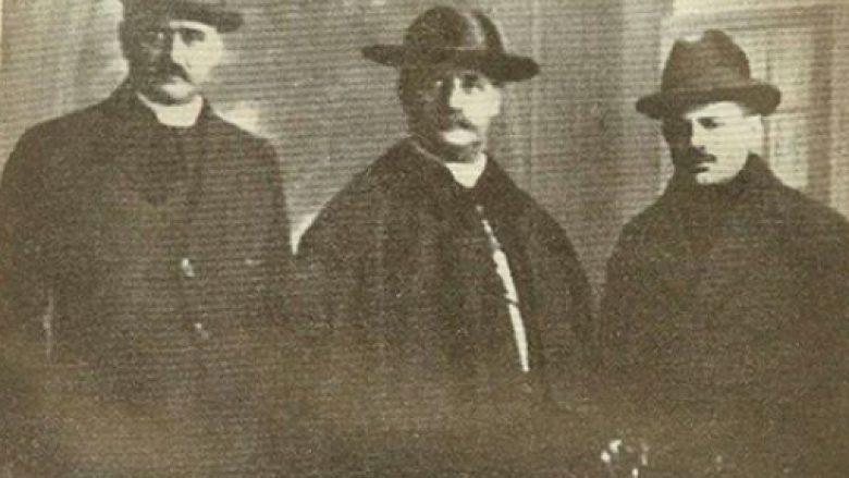 Luigj Bumçi, Gjergj Fishta dhe Dhimitër Berati gjatë Konferencës së Paqes në Paris (1919)