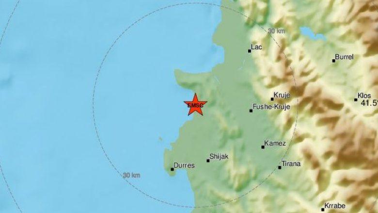 Tjetër tërmet në afërsi të Tiranës