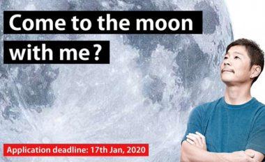 Miliarderi japonez publikon shpalljen, kërkon një femër më të cilën do të mund të udhëtonte në Hënë me Space X