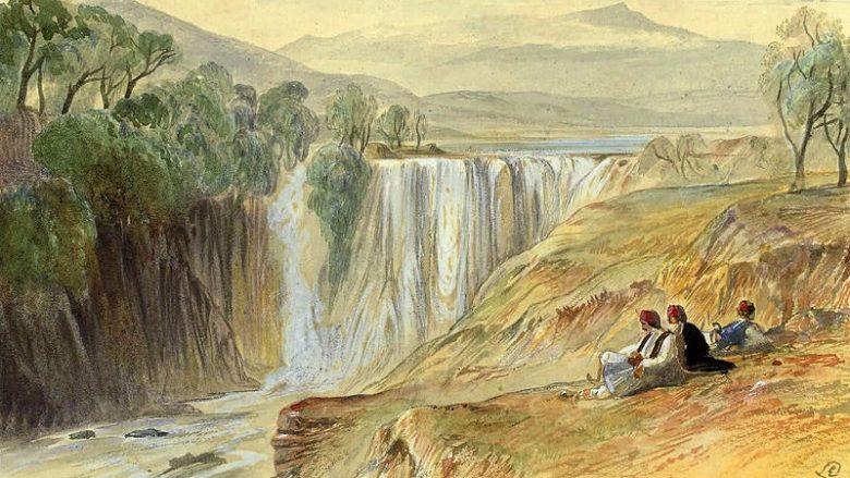 """""""Ujëvara e Kalamasë"""" nga Edward Lear (1851)"""