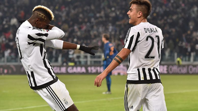 Paul Pogba dhe Paulo Dybala (Foto: Valerio Pennicino/Getty Images/Guliver)