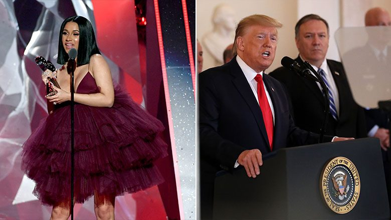 Cardi B dhe Donald Trump (Foto: Getty Images/Guliver)