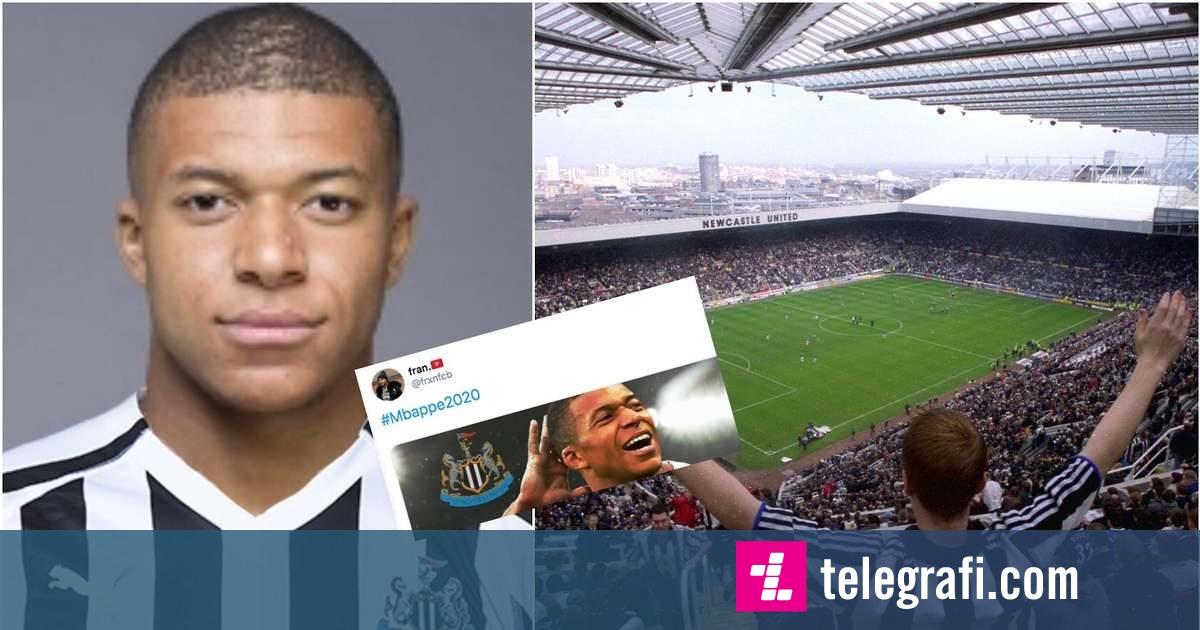 Tifozët e Newcastle të gëzuar jashtë mase rreth blerjes së mundshme të klubit nga princi saudit  bëjnë trend në rrjetet sociale blerjen e Mbappes