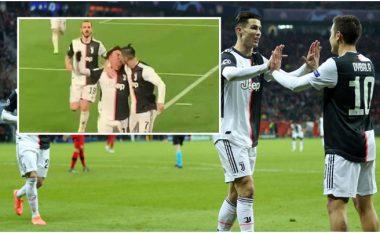 Video që u bë hit në rrjetet sociale: Ronaldo puth Dybalan në buzë gjatë festës e golit