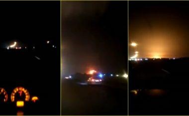"""Po binte në tokë si """"një top zjarri"""": Pamje të tjera të rrëzimit të aeroplanit me pasagjerë në Iran, pak pas sulmit mbi bazat ushtarake amerikane"""