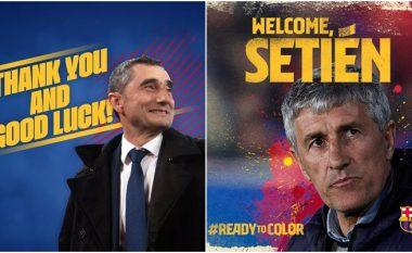 Zyrtare: Ernesto Valverde largohet, Quique Setién trajner i ri i Barcelonës