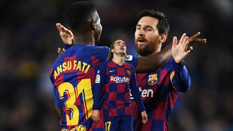 Ansu Fati, Antoine Griezmann, Lionel Messi (Foto: Getty Images/Guliver)