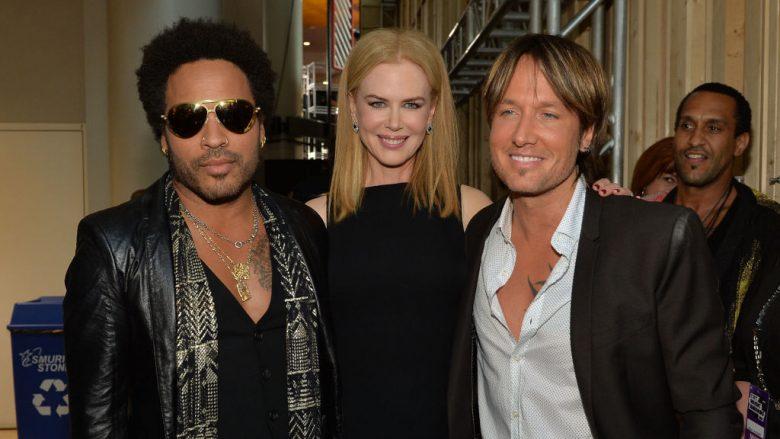 Ish-i fejuari Lenny Kravitz, Nicole Kidman dhe bashkëshorti i tanishëm, Keith Urban (Foto: Rick Diamond/Getty Images/Guliver)
