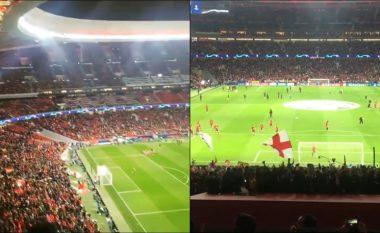 Tifozët e Liverpoolit bëjnë që stadiumi i Atleticos të ngjajë sikur është Anfieldi